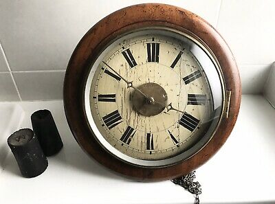 Antique Victorian? Post Office Clock Uncased Chains, Weights Open to Offers
