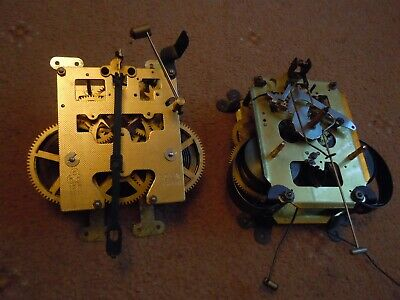 Two Old Clock Movements For Spares Or Repairs