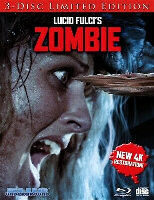 ZOMBIE New Blu-ray 3 Disc Limited Edition Cover B Splinter Lucio Fulci Zombi 2
