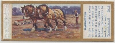 Farmer With Horse Team At End Of Day Farming Agriculture 1930sTrade Ad Card
