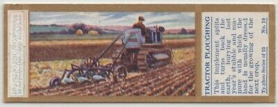 Horse Team Harrowing Field Farming Agriculture 1930sTrade Ad Card