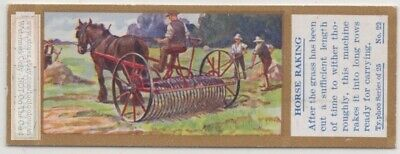 Raking Hay With A Team Of Horses Field Farming Agriculture 1930sTrade Ad Card