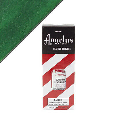 C--050 Angelus Permanent Leather Dye With Applicator 3Oz Green