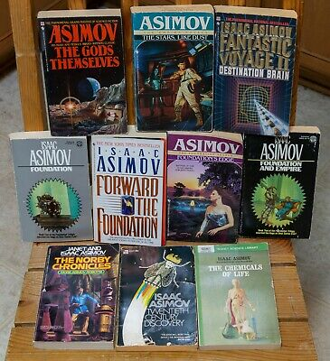 Lot of 10 Isaac Asimov Paperback Novels | FOUNDATION, GALACTIC EMPIRE +MORE!