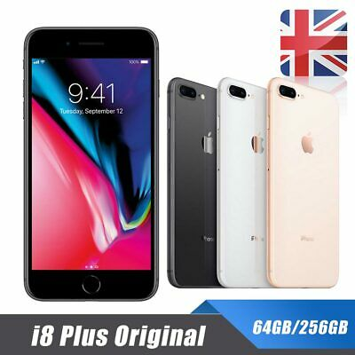 New Sealed Unlocked Apple iPhone 8 Plus 64/256GB Mobile Smart Phone + Warranty