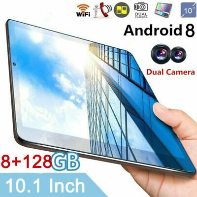 "10.1"" Tableta Android 8.0 8+128GB WiFi WLAN 2 Cámara SIM Tablet PC bluetooth"