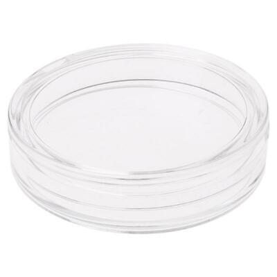 38.6mm Clear Round Acrylic Coin Capsule Storage Box Holder For Silver 2 oz Case