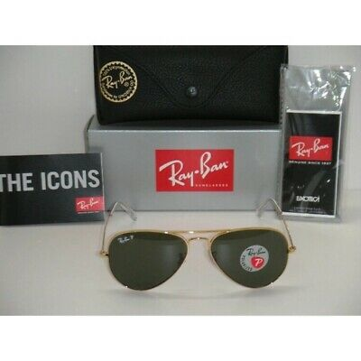 Ray-Ban Aviator POLARIZED RB3025 Gold Frame and black lens
