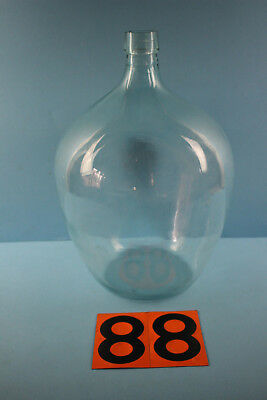 Alter  Glasballon Transparent Ca 10 Liter Nr 88