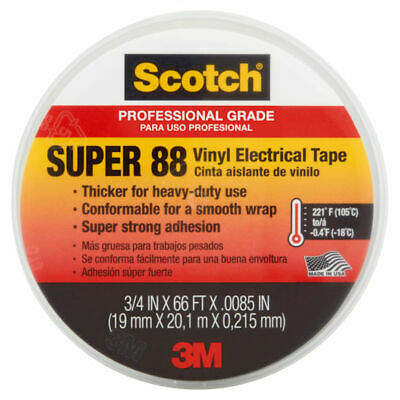 "3M 6143 Scotch Vinyl Plastic 3/4"" X 66' Electrical Tape Super 88"