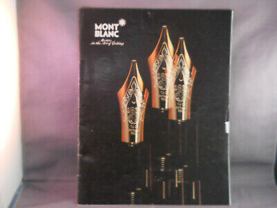 Mont Blanc Fountain Pen Vintage 1985 Full Line Catalog