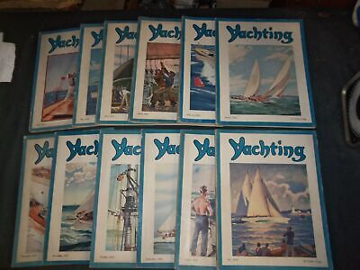 1936 Yachting Magazine - Lot Of 12 Different Issues - Complete Year
