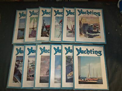 1944 Yachting Magazine - Lot Of 12 Different Issues - Complete Year