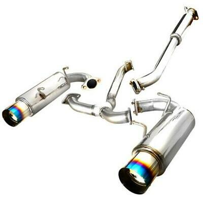 Spec-D Tuning MFCAT2-FRS12T-SD Catback Dual Burnt Tip Exhaust System for 12 S...