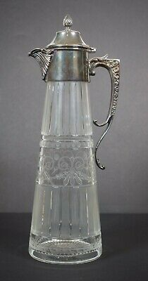 Asprey London Sterling Silver and Cut Glass Decanter
