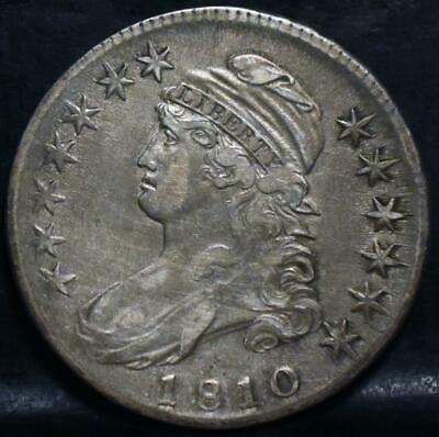 1810 Rotated Die Capped Bust Half Dollar  Id#Jj958