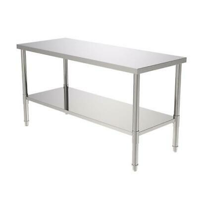 """60"""" Stainless Steel Galvanized Work Table"""