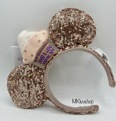 Disney Parks Mickey Ears Food and Wine Festival 2019 Sequined Headband NWT