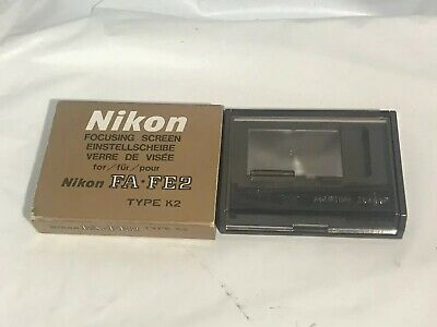 ALMOST MINT BOX Nikon Focusing Screen Type K2 for FA FE2 from Japan