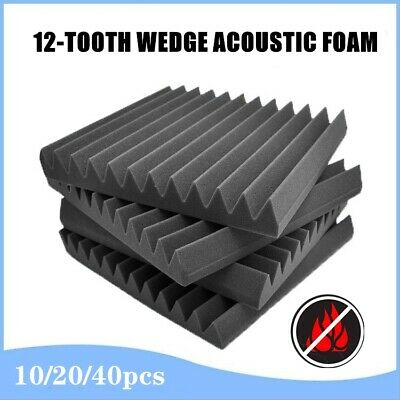 Studio Acoustic Foam Sound Proofing Ceiling Tile Panel Absorbtion Wedge30x30x5CM