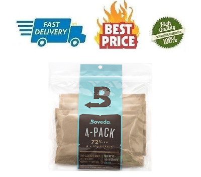 Boveda 72 Percent RH 2-Way Humidity Control Large 60 gram 4-Pack 72%