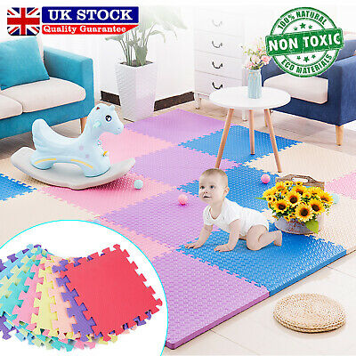 Large Soft Foam EVA Kids Floor Mat Jigsaw Tiles Interlocking Garden Play Mats UK
