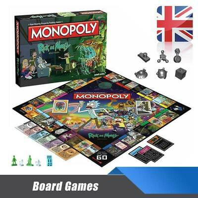 For Rick And Morty Monopoly Board Games Family Party Perfect Game Fun Gameplay