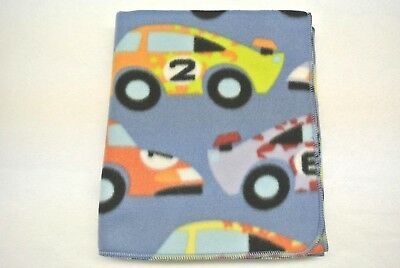 Race Cars Racing Toddler Blanket Can Be Personalized 28x44
