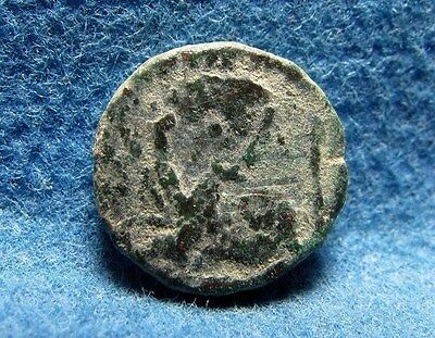 Leo I AE4 nummus / Lion 457-474AD Archaeology ancient Late Roman Imperial coin.