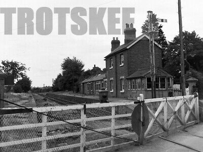 Larger Negative BR British Railways Scene Fort Brockhurst Station CLOSED 1965