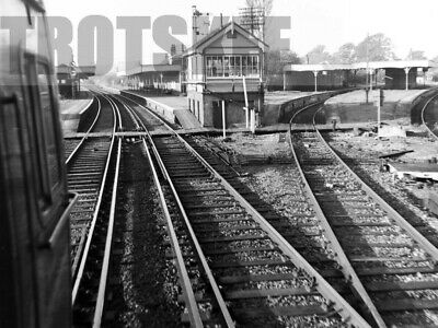 Negative BR British Railways Scene Christ's Hospital Station Signal Box 1965