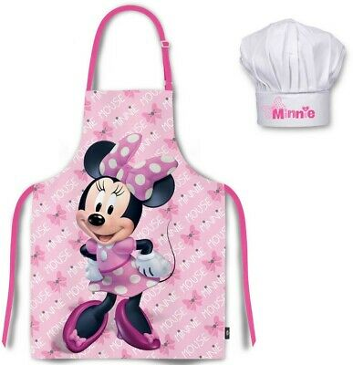 Disney Minnie Mouse Girls Children's Apron Set Chef cooking baking Set