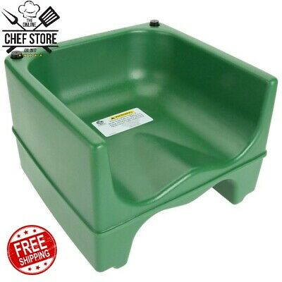 Green Dual Height Plastic NSF Stackable Restaurant Child Booster Chair Seat