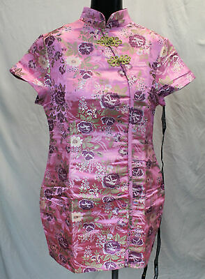 Pretty Little Thing Women's Oriental Bodycon Dress CD4 Pink Size US:10 UK:14 NWT