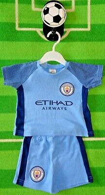 MANCHESTER CITY FC BABY SHORT SET MAN CITY BABY BODY KIT OFFICIAL PRODUCT 2018