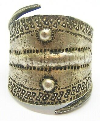 9th-10th century AD Scandinavian Viking silver finger ring of a very large size