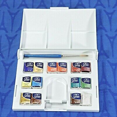 Winsor & Newton Cotman WATERCOLOR Compact SET 14 half pans NEW, never used