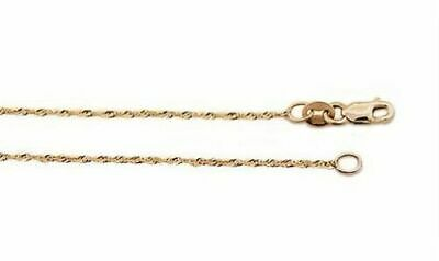 """24/"""" 18/"""" 20/"""" 14K or massif corde chaîne Sparkle Coupe Collier 1.25 mm 16/"""""""
