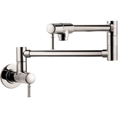 Hansgrohe 04218830 Talis C Wall Mount Pot Filler, Polished Nickel