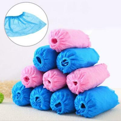 100 Pcs Disposable Shoe Covers Indoor Cleaning Floor Fabric Non-Woven Overshoes