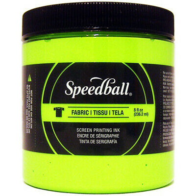 Speedball Fabric Screen Printing Ink Fluorescent 8oz-Lime Green, FSPIF8-4690