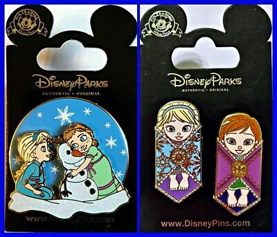 Disney Parks 3 Pin Lot FROZEN Toddlers Olaf + BABIES Elsa & Anna
