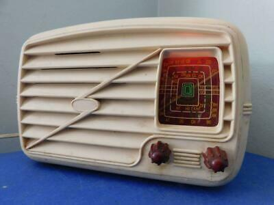 Australian Cream Art Deco Bakelite Philips Model 100 Radioplayer Valve Radio