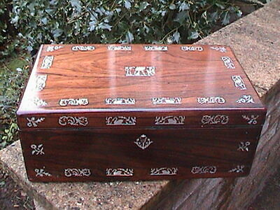 Magnificent Victorian Rosewood Writing Slope / Secret Drawers
