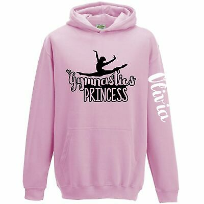 Gymnastics Kids Hoodie Personalised Dance Gifts For Girls Clothes Princess Hoody