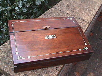Victorian Inlaid Rosewood Writing Slope