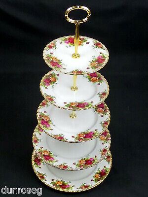 Old Country Roses Impressive 5-Tier Cake Stand, 1962-73, England, Royal Albert