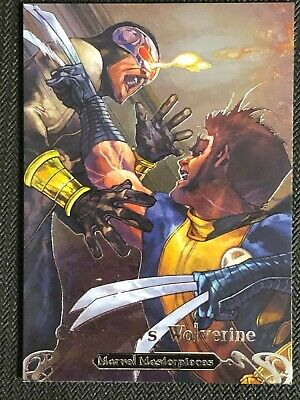 Wolverine Marvel Masterpieces 2018 Battle Spectra Chase Card BS-9 Cyclops vs