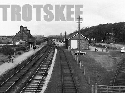 Larger Negative BR British Railways Scene Ravenglass Station 1965