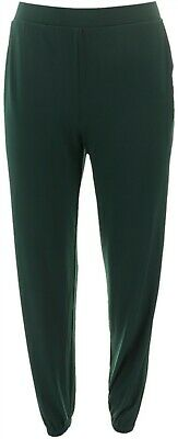 Lisa Rinna Collection Knit Cropped Jogger Pants Dark Forest Grn M NEW A341719